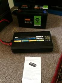 3200w pure sine wave inverter and Halfords 115ah lesuire battery, off grid solar system