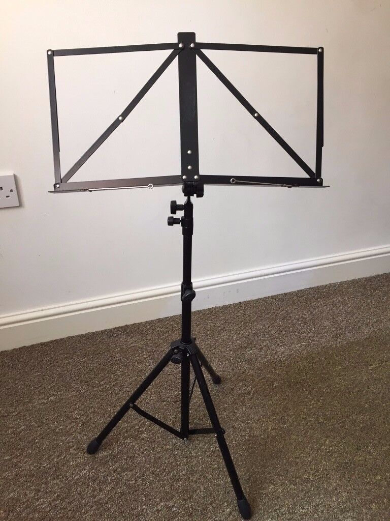 Stagg MUSA4 Deluxe Music Stand, folding, Black (no bag)