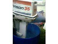 JOHNSON 35 HP ELECTRIC START +CONTROLS