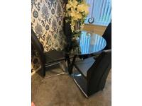 Lovely DFS table and four chairs