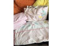 Pink crib set