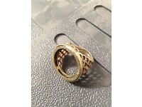 9ct gold ingot and 9ct full sovereign ring mount