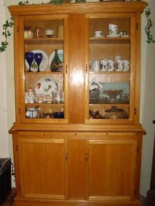 Oak China Cabinet -- downsizing