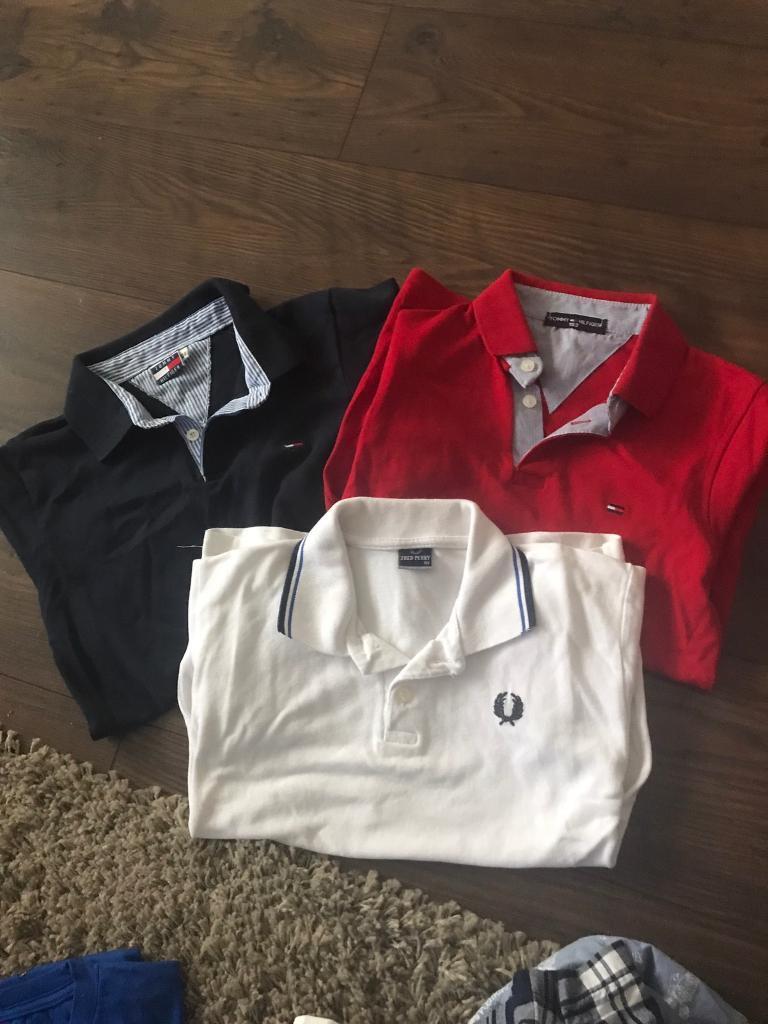 3 boys short sleeved polo shirts Age 7-9