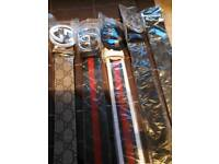 Man bags and belts