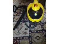 LITTLE YELLOW STEAM CLEANER WITH ACCESSORIES USED GREAT CONDITION BARGAIN