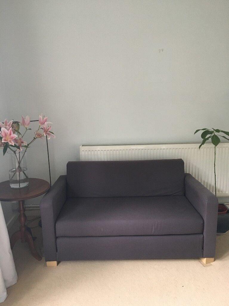 Ikea Sofa Bed Ullvi 2 Seat Dark Blue Navy Good Condition 50