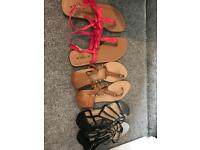 Brand new various flat sandals size 7