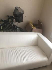 IKEA white leather sofa in very good condition