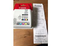 New unused Canon PIXMA multipack printer cartridges