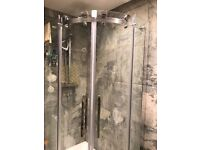 Shower enclosure, tray and two overhead showers from Victoria Plum.