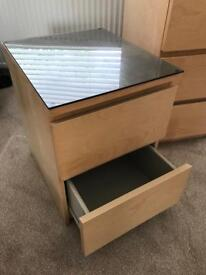 Ikea malm bedside drawer