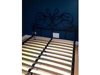 Next king size metal bedframe