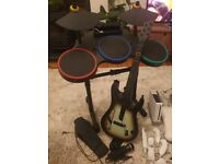 Wii bundle with Guitar Hero + Wii fit