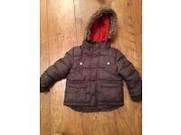 Boys khaki padded coat age 18-24 months