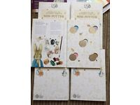 Beatrix potter book with coins