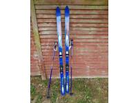 skis and poles rarely used