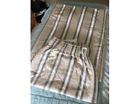 Laura Ashley neutral stripe curtains