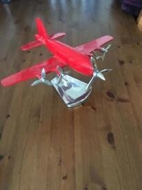 Metal aeroplane figure