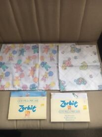 8 Cot Pillowcases made by Zorbit - various designs