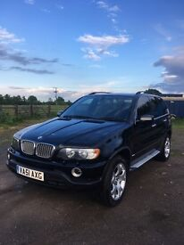 BMW X5 4.4 sport new engine fitted new tyres tv in head rest 4x4 must see