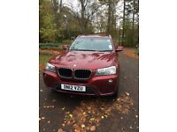 Red BMW X3 2012 Model; MOT until April '18; Full BMW Service History