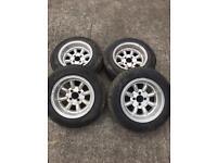 4x 100 13inch revolution wheels