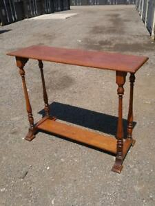 Oakville Antique Hall Table Tall Solid Wood  Slim Narrow Vintage Retro Spindles Collectible