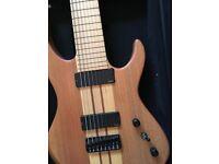 "Agile Intrepid Pro 8 string baritone guitar EMG Hipshot 30"" scale"