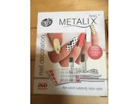 Brand new in sealed box Rio Nail Metalix decoration