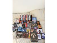 Job lot of dvds, cds, cassette s