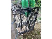 Pair of decorative wrought iron gates