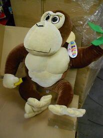 job lot plush toys teddies. LARGE MONKEYS 3ft tall 10 pcs