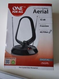 Amplified indoor aerial up to 42db