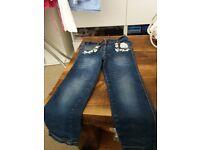 Girls dark blue size 4-5 jeans