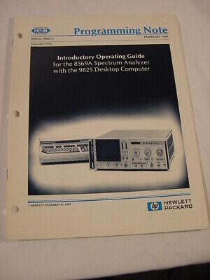 Vtg Manual - Hewlett Packard Hp 8569a Spectrum Analyzer 9825 Computer