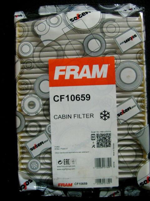 Genuine Sogefi Fram CF10659: Ford B-Max or Fiesta VI Cabin Filter.