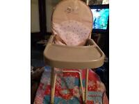 Mamas and Papas dolls' high chair.