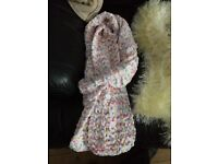 Hand knitted ladies scarfs