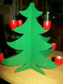 flat pack christmas tree, candle holder