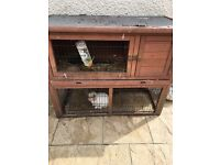 Rabbit hutch for sale. In good condition, also have a metal run... rabbit NOT included