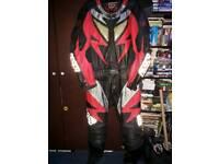 IXS 2 Piece Motorcycle Leathers Size 56