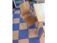 Chairs Wood x 2