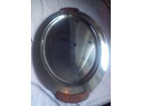 "Oneida 21"" Stainless steel oval platter"