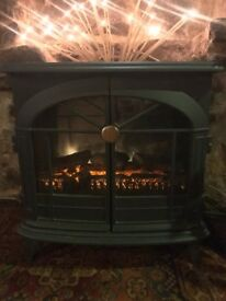 Wood burner effect electric heater