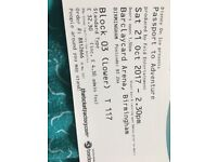 X2 Disney on ice tickets for the 21st of October