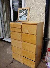 Sturdy slimline Ikea chest of draws. Slight unnoticable damage hence low price