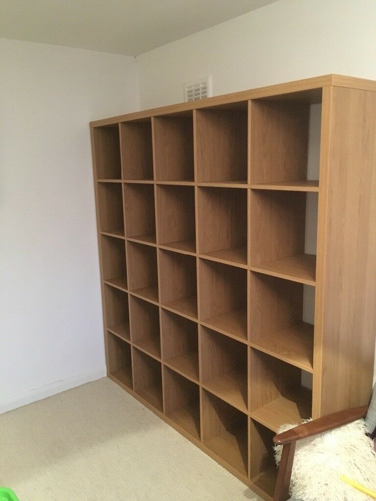 ikea kallax shelving unit 182 x 182 cm oak effect in lenzie glasgow gumtree. Black Bedroom Furniture Sets. Home Design Ideas