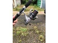Ron Thompson 10 ft fishing rod and reel