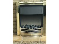 Electric Fireplace with heater and fire illumination
